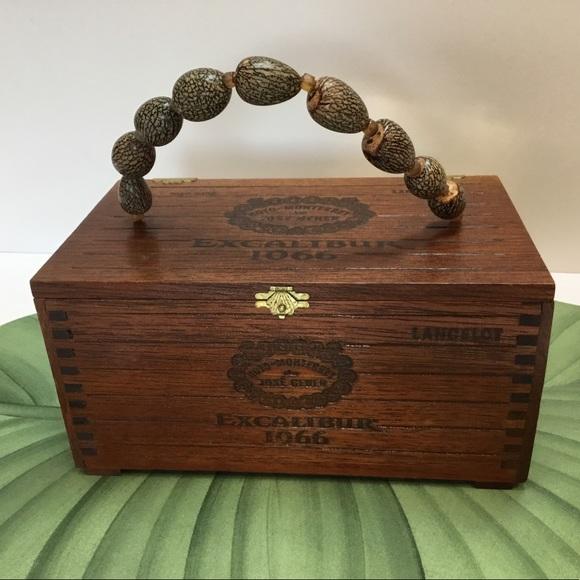 Vintage Wooden Cigar Box Tote
